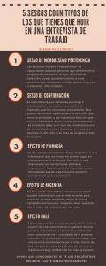 5 Sesgos cognitivos de los que tienes que huir en una entrevista de trabajo